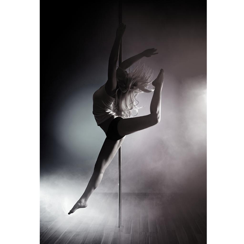 Pole dance illustration